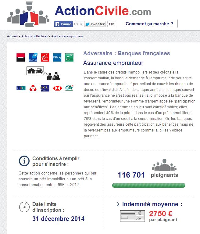 Plus de 120 millions d'euros réclamés par des emprunteurs aux banques !