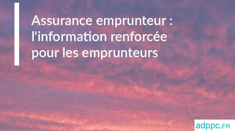 assurance emprunteur immobilier linformation renforcee pour les emprunteurs