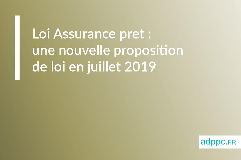 Loi Assurance pret : une nouvelle proposition de loi en juillet 2019