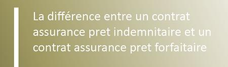 assurance prêt forfaitaire assurance prêt indemnitaire