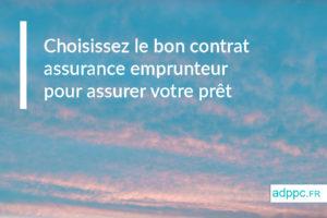 contrat assurance pret immobilier