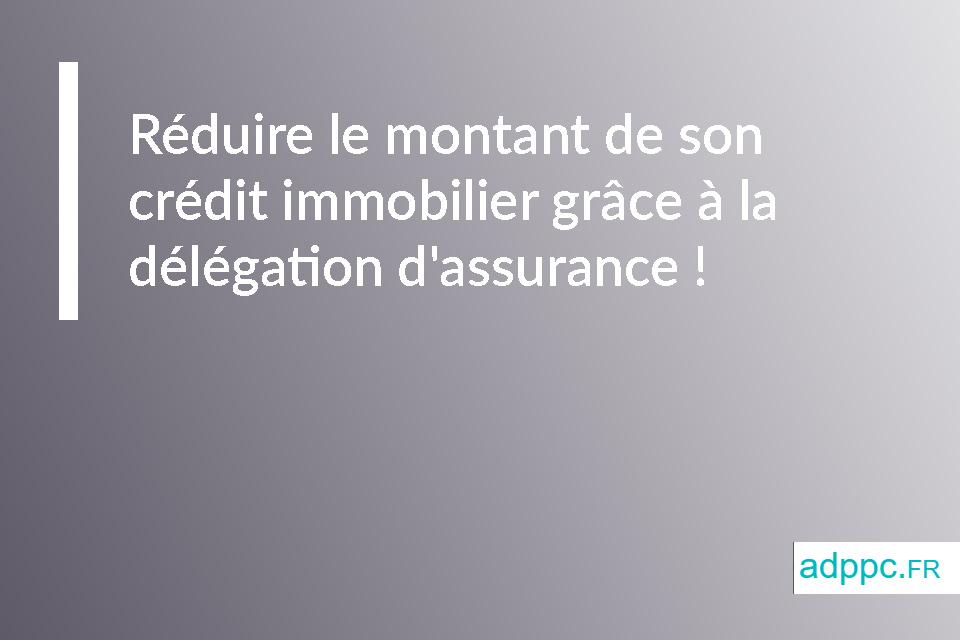 Réduire le montant de son crédit immobilier grâce à la délégation d'assurance !