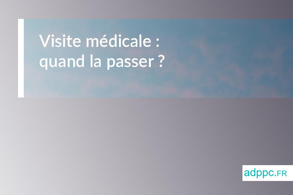 Visite médicale assurance pret