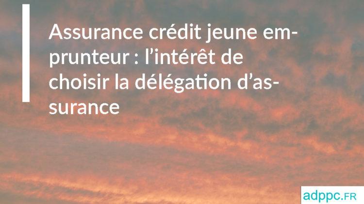 Assurance crédit jeune emprunteur: l'intérêt de choisir la délégation d'assurance