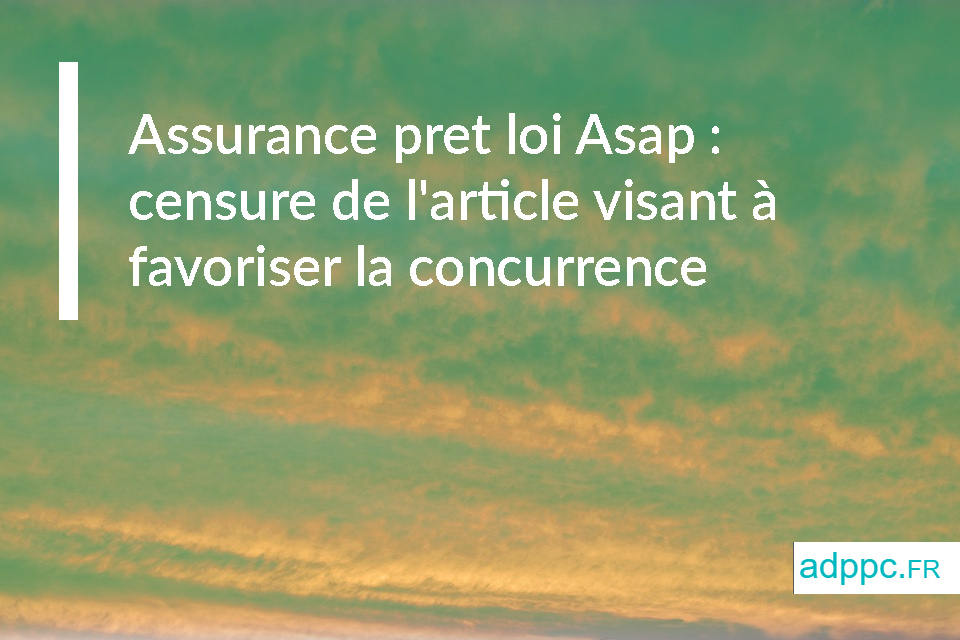 assurance pret loi asap
