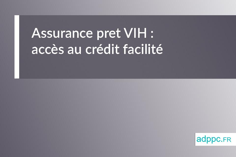 assurance pret vih