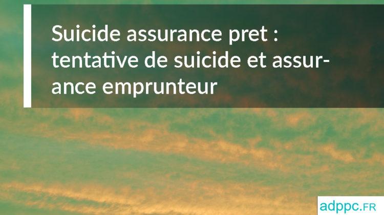 suicide assurance pret