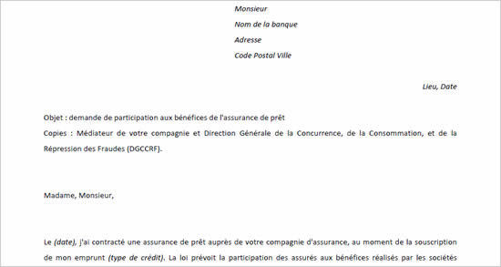 Modele lettre mecontentement banque - Document pret immobilier ...